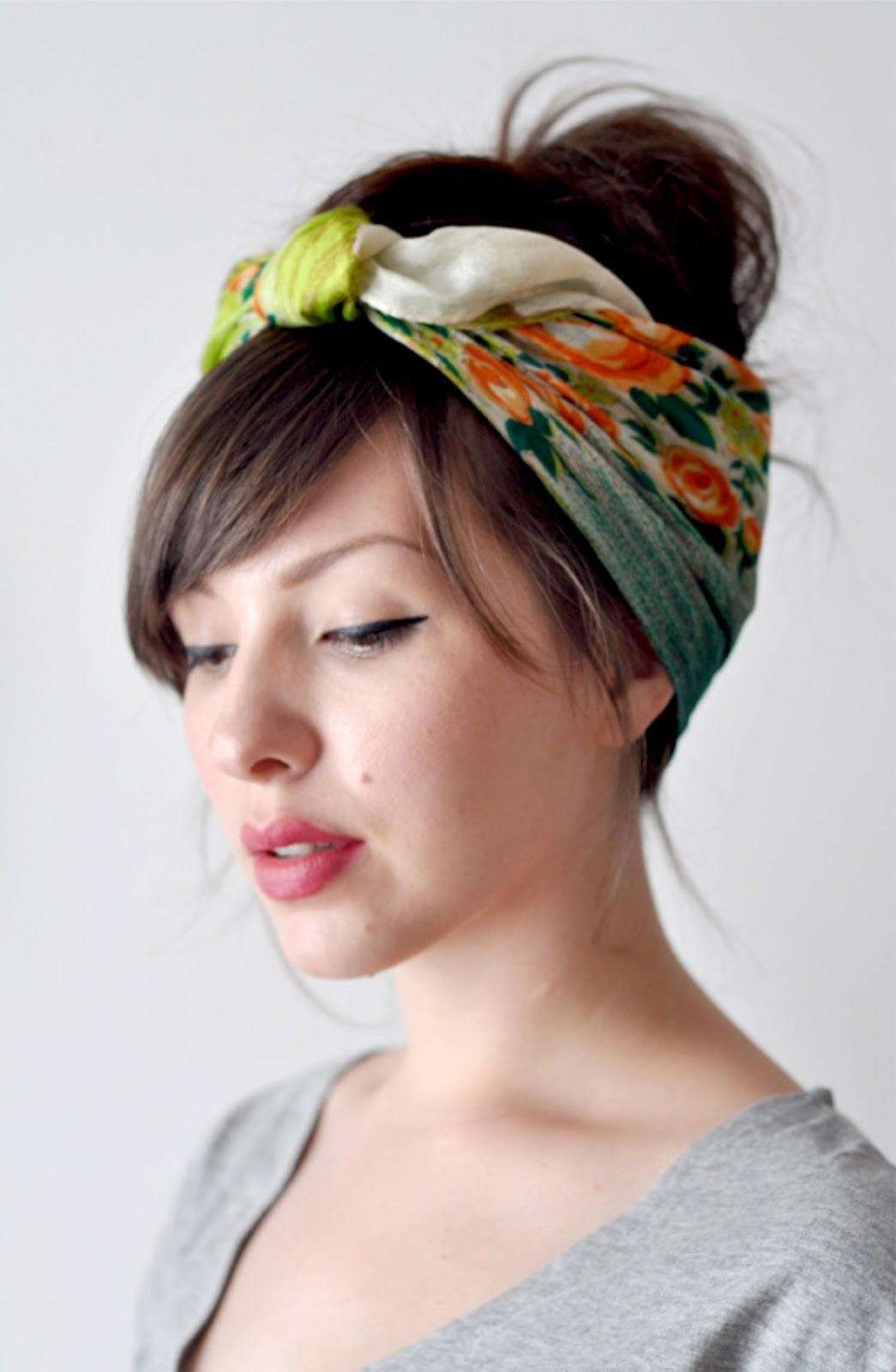 Как сшить себе повязку на волосы