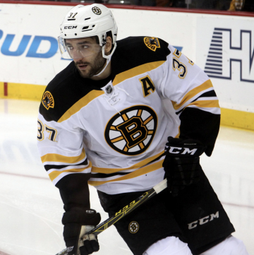 f1718eef755dc Patrice Bergeron leads the Bruins in the Stanley Cup Final. PHOTO: Lisa  Gansky/Wikipedia