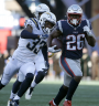 Sony Michel ran for three touchdowns. PHOTO: Patriots