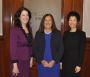 Treasurer Goldberg with Sue Perez and Sarah Kim
