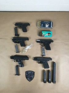 Five of Eight Guns Confiscated by WPD (Image: Worcester Police)