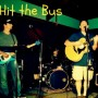 Three members of the band Hit the Bus with front man Dave Garden on the acoustic guitar in front. The band plays many, many different genres of music. Photo courtesy of Cady Spencer.