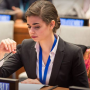 Loberti (pictured) is a student at URI and has testified before the United Nations on behalf of persons with disabilities. (Photo: Facebook)