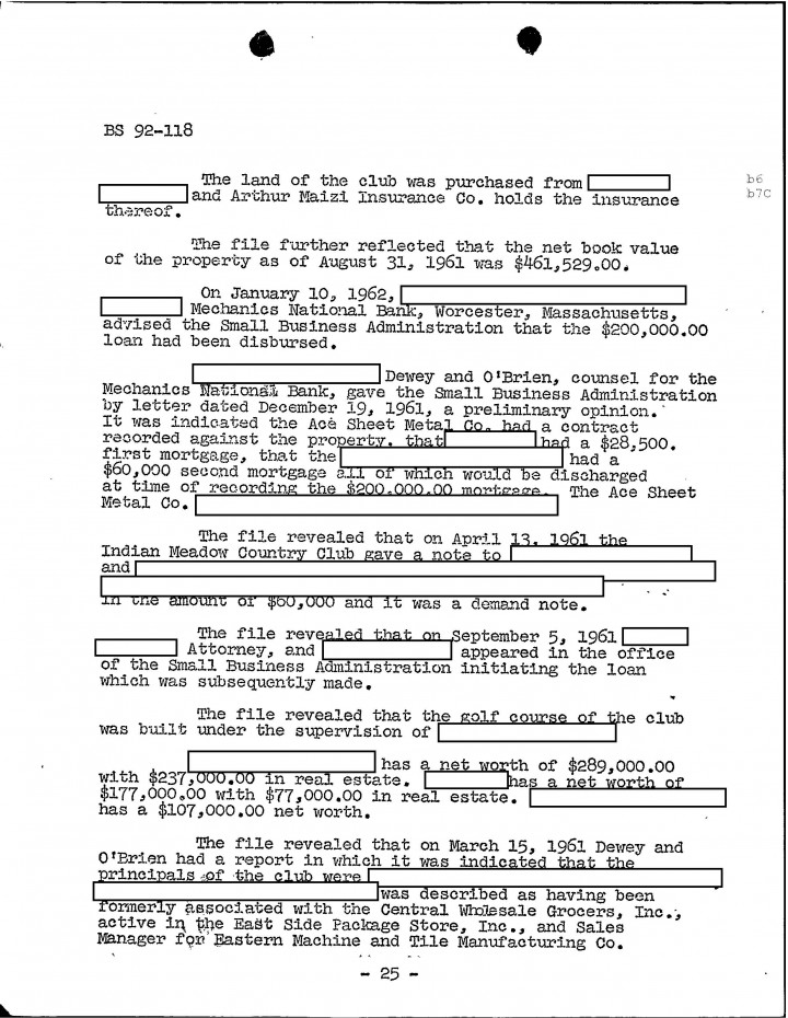 "Golocalworcester | Cheat Sheet 23, Fbi Files: Patriarca And ""Bury"