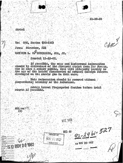 GoLocalWorcester | FBI Files - The Patriarca Papers - Entry