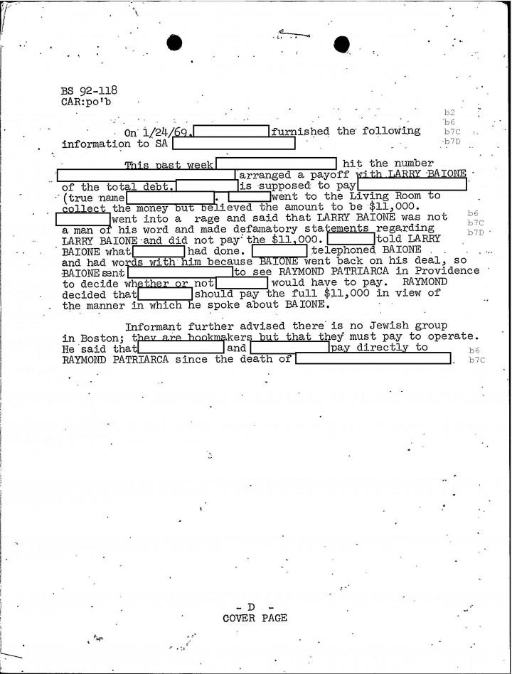 Golocalworcester Fbi Files The Patriarca Papers Entry 47 Mob Radio Ad Infuriates Raymond Patriarca