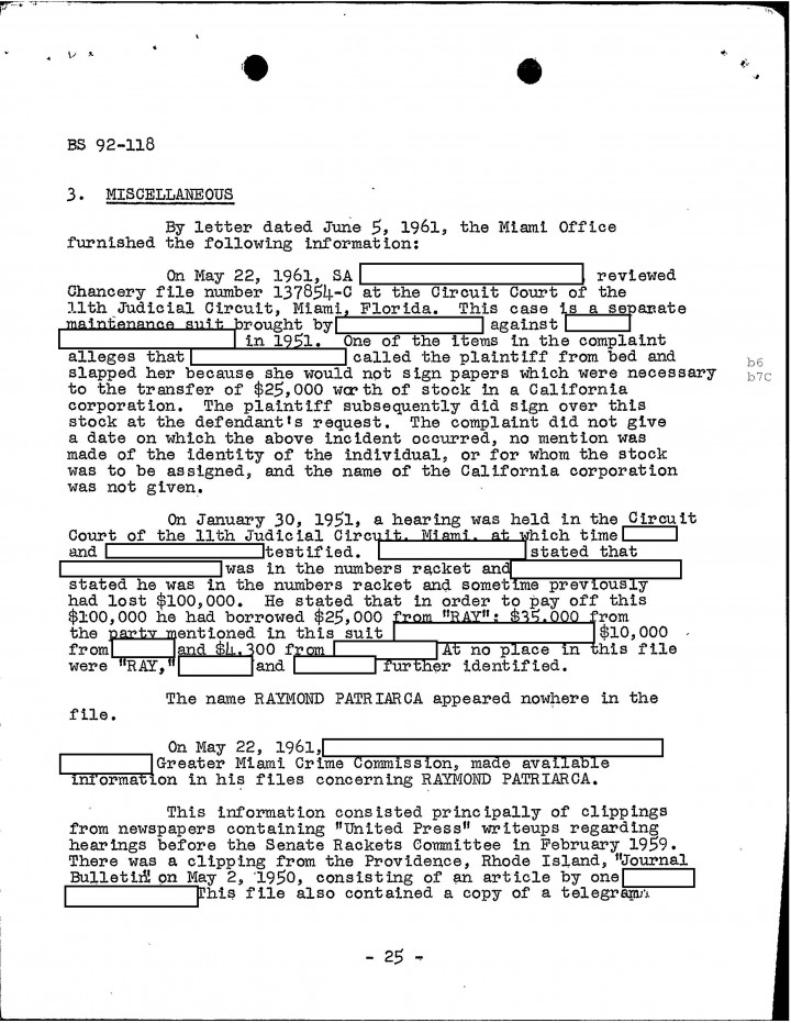 Golocalworcester Fbi Files The Patriarca Papers Entry 10