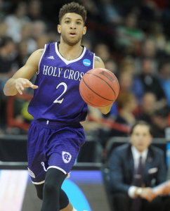 Anthony Thompson hits clutch free throw to give Holy Cross the win.
