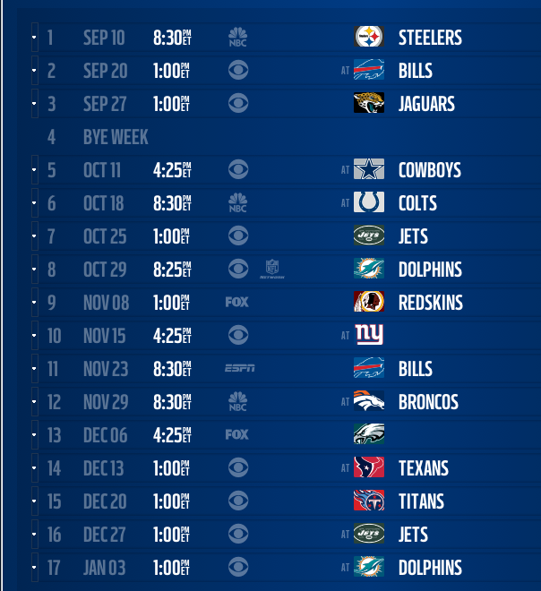 picture relating to Buffalo Bills Printable Schedule identified as GoLocalWorcester Contemporary: Patriots 2015-16 Timetable Introduced