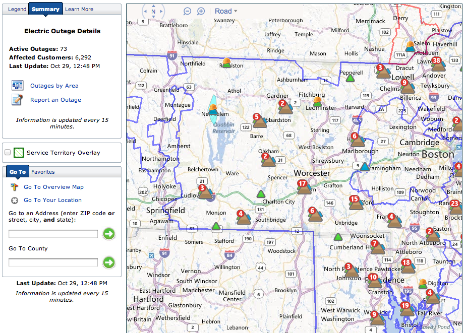 Golocalworcester Live Map National Grid Power Outages